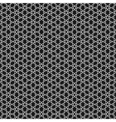 Black and white islamic pattern vector
