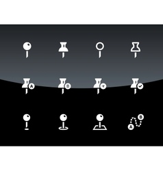 Mapping pin icons on black background vector
