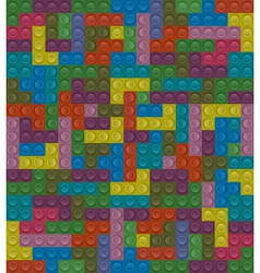 Colorful lego block seamless background vector