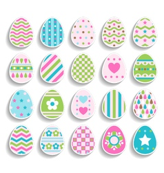 Set of color easter eggs decorated of ornament vector