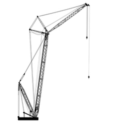 Silhouette of one cranes vector