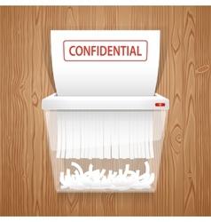 Shredding documents for security vector