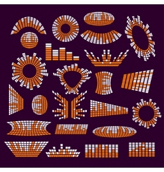 Set of music range equalizer design vector