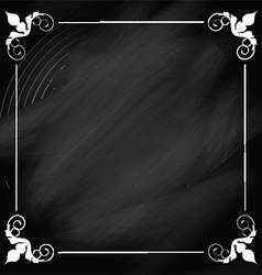Decorative chalkboard background vector