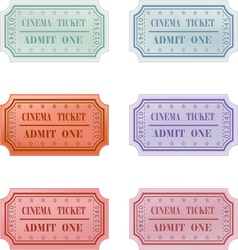 Ticket design set vector