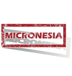 Micronesia outlined stamp vector