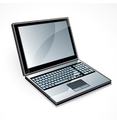 Open laptop computer vector