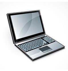 Open laptop computer vector