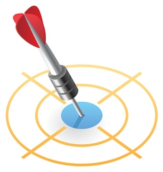 Isometric icon of dart in target vector