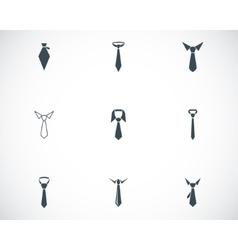 Black tie icons set vector