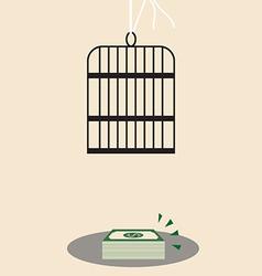 Money trap vector
