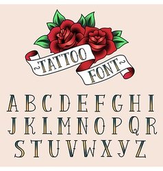 Tattoo alphabet vector