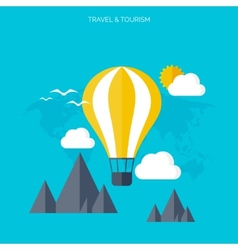Balloon icon world travel concept background vector