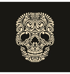 Ornate skull vector