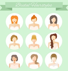 Bridal hairstyle vector