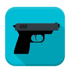 Gun app icon with long shadow vector