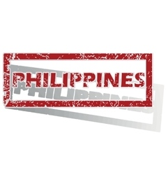 Philippines outlined stamp vector
