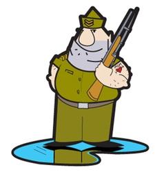 Drill sergeant vector