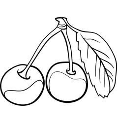 Cherry for coloring book vector
