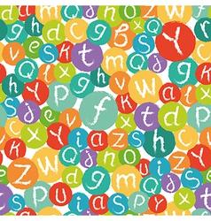 Seamless pattern - funny english alphabet vector