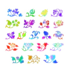 Flowers water color vector