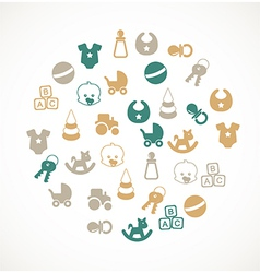 Babies icons vector