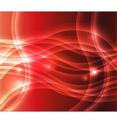 Waves of red background vector