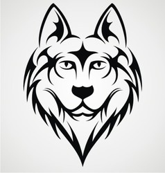 Wolf head tribal vector
