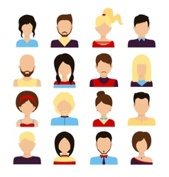People avatar set vector