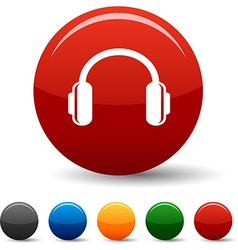 Headphones icons vector