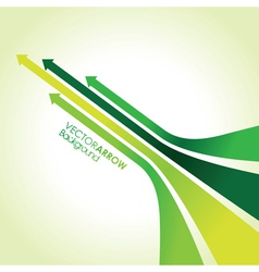 Green arrow strips vector