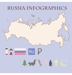 Russian infographics vector