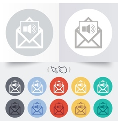 Voice mail icon speaker symbol audio message vector