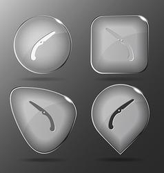 Hand saw glass buttons vector