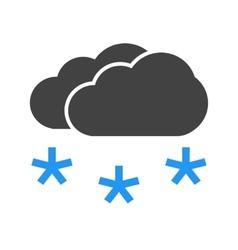 Light snowing vector
