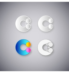 Abstract combination of letter c vector