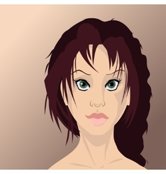 Girl face in high quality vector