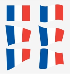 Set of french flags vector