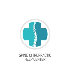 Spine chiropractic diagnostic and help center logo vector