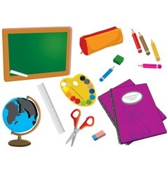 Classroom items vector