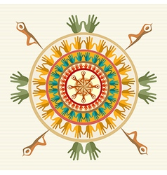 Human hands persons mandala vector