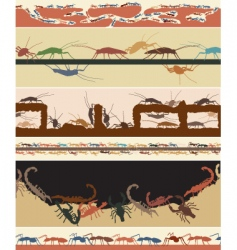 Bug foregrounds vector