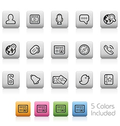 Social communications icons vector