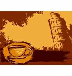 Italian coffee background vector