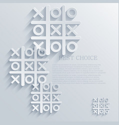 Tic tac toe background eps10 vector