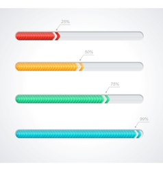 Progress loading bars vector