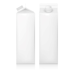 Milk and juice white carton package vector