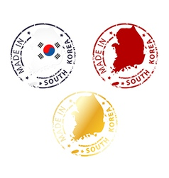 Made in south korea stamp vector
