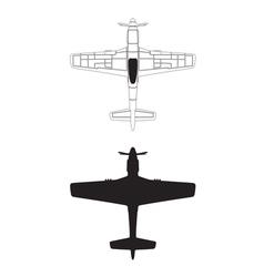 P-51 mustang vector