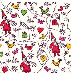 Christmas sketch wallpaper vector